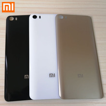 MI 5 3D glass with logo Back Cover For Xiaomi Mi 5 5.15 inch Housing panel Battery Door For Xiaomi Mi 5 Battery Back Cover