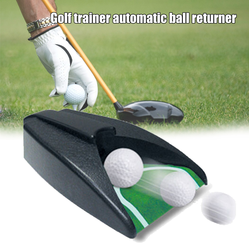 Newly Golf Automatic Putting Cup Golf Ball Return Portable Ball Return Practice Training Aid Device Gifts Golf Accessory
