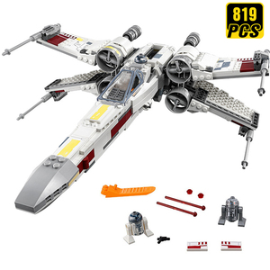 Дизайнерские строительные блоки StarWars Star Millennium X-Wing космический корабль Alien Wars Trench Run дети подарок на день рождения игрушки