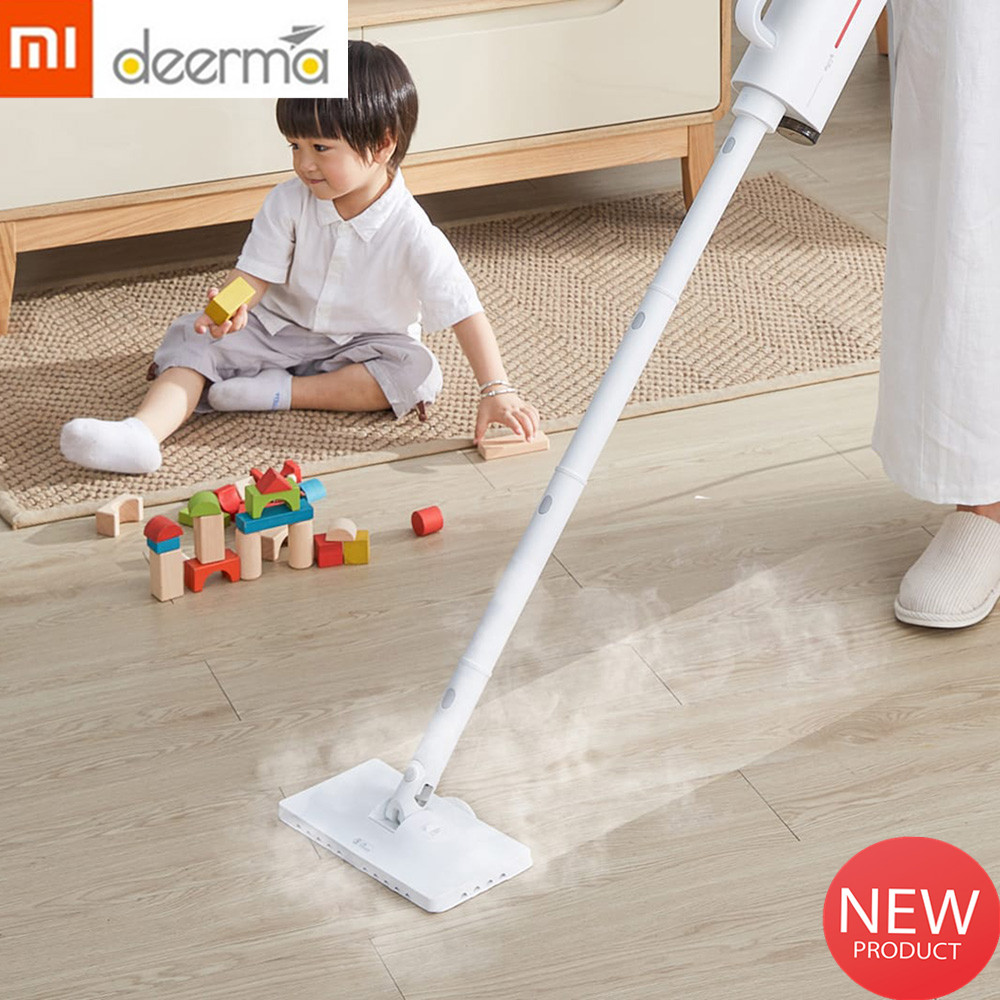 2019 New Xiaomi Deerma Vacuum Cleaner Electric Steam Handheld Steam Mop Floor cleaner For Home 5 Attachments Cleaning Machine