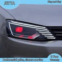 Car Styling for VW Jetta Headlights 2011 2018 Jetta mk6 LED Headlight Dynamic Signal Led Drl Hid Bi Xenon Auto Accessories