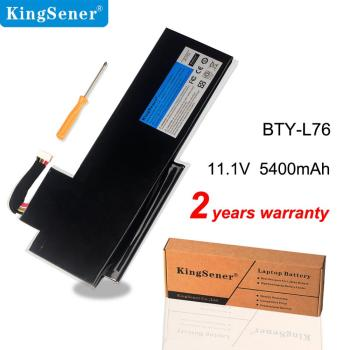 KingSener BTY-L76 Laptop Battery For MSI GS70 MS-1771 MS-1772 MS-1774 2QC-019XCN For Medion Erazer X7615 X7613 5400mAh bottom case for msi gs60 ms 16h2 ms 16h21 ms 16h2c ws60 px60 gs70 gs73 ms 1772d ms 17711 black plastic red 772d612y77 metal