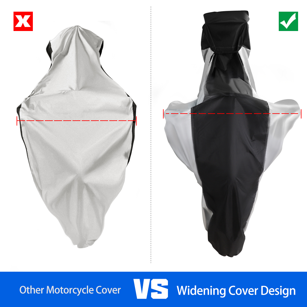 Motorcycle Cover UV Protective Raincoat Universal Outdoor Waterproof Dustproof Design Motorbike Coat 210D Oxford For All Scooter in Motocycle Covers from Automobiles Motorcycles