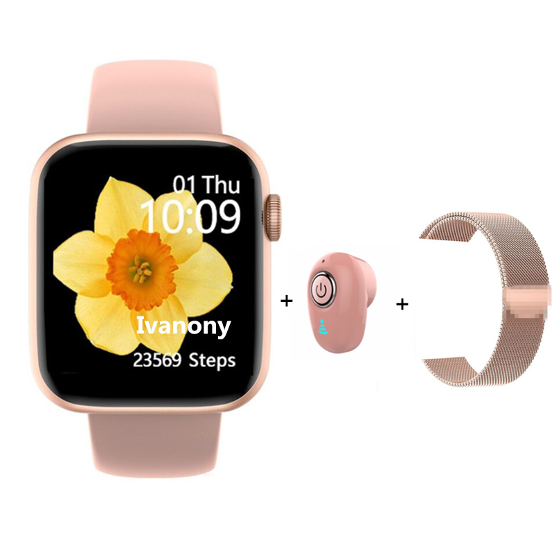 W75 Smartwatch Women+Earphone+Strap/sets 40MM/44MM Smart Watch ECG Oxygen Health Sports Activity Tracker VS IWO MAX T500 T5 W68 image