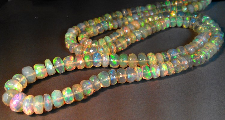 big size OPAL roundel faceted AAAAA 5-8.5MM for DIY jewelry making loose beads 40CM FPPJ wholesale nature gemstone(China)