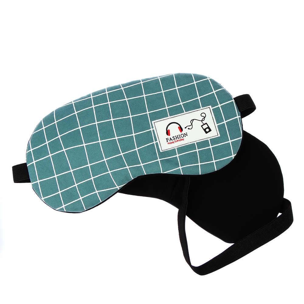 1Pc Striped Schlaf Augenklappe Reise Entspannt Weiche Schlaf Augen Maske Schatten Abdeckung Baumwolle Und leinen Augenklappe Mond Stil Aid schlaf Augenmaske