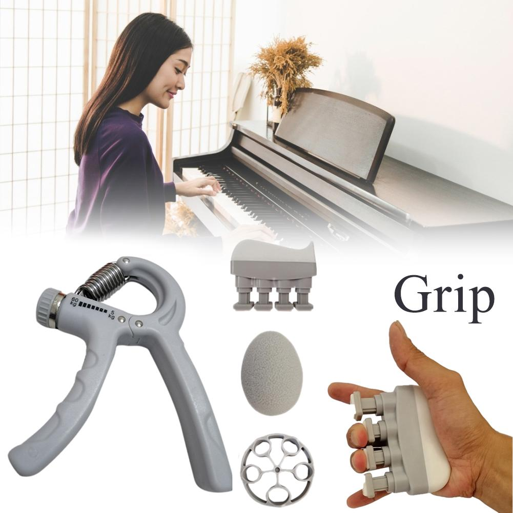 4PCS Adjustable Heavy Gripper Fitness Hand Exerciser Grip Wrist Training Increase Strength Spring Finger Pinch Carpal Expander
