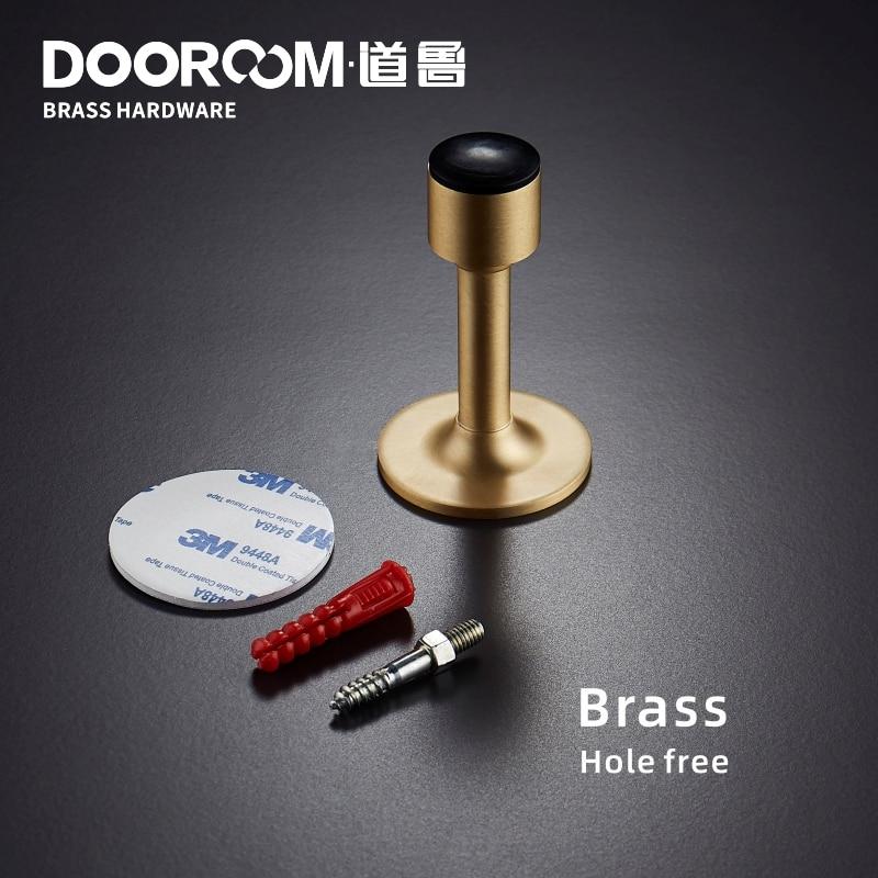 Dooroom Brass Door Stops Hole Free Bathroom Door Stopper Heavy