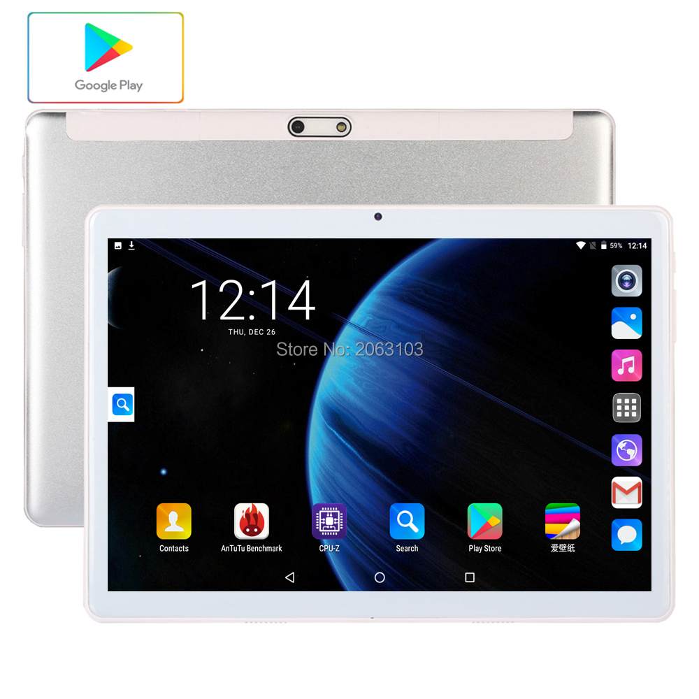Global Version  Free Shipping 10 Inch Tablet PC 3G Phone Call 32GB ROM 4G LTE Android 9.0 WiFi 1280*800 IPS 2.5D Glass+Gifts