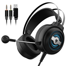 NUBWO N1 PRO 3,5mm Wired Spiel Kopfhörer Bunten Atem Lichter Noise Cancelling E-Sport Kopfhörer mit Mic AUX + USB Desktop PC