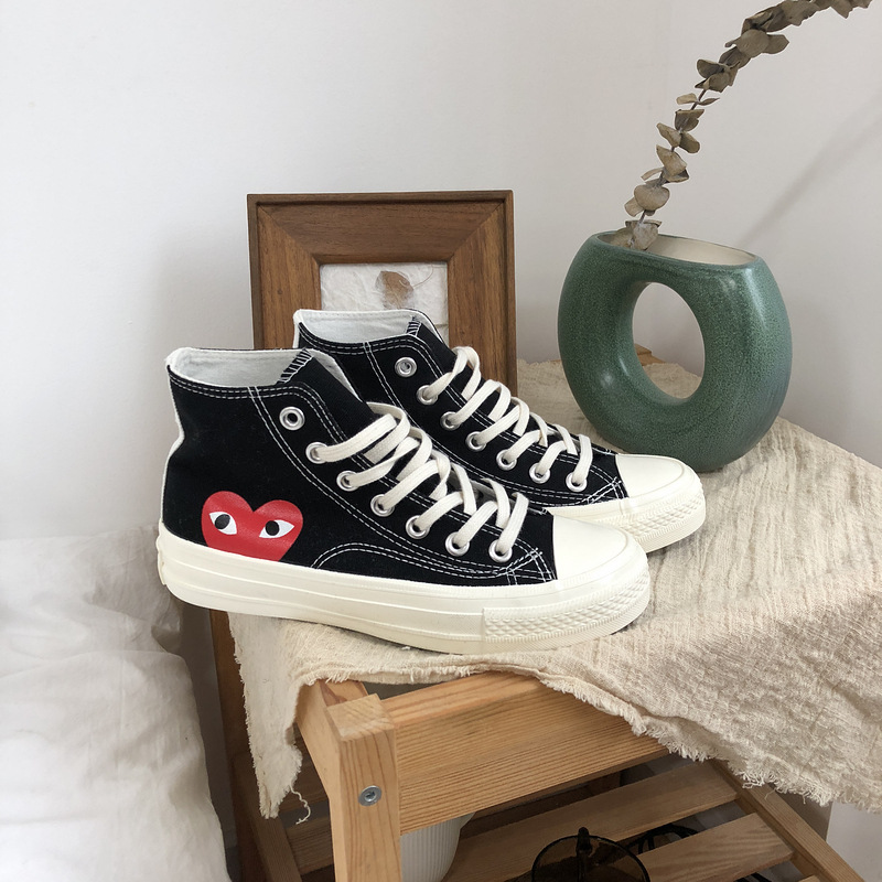 Male PLAY Black CDG 1970s All Cool Star High/Low Top Unisex Skateboarding Shoes Sapato Feminino Zapatos De Mujer