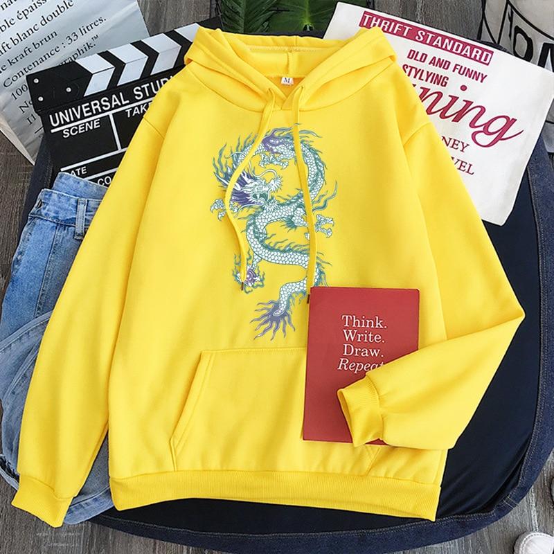 Cool Dragon Plus Size Print Sweatshirts Women Oversized Tops Hoodies Female Pullovers Casual Hoody Harajuku Korean Style Clothes 12