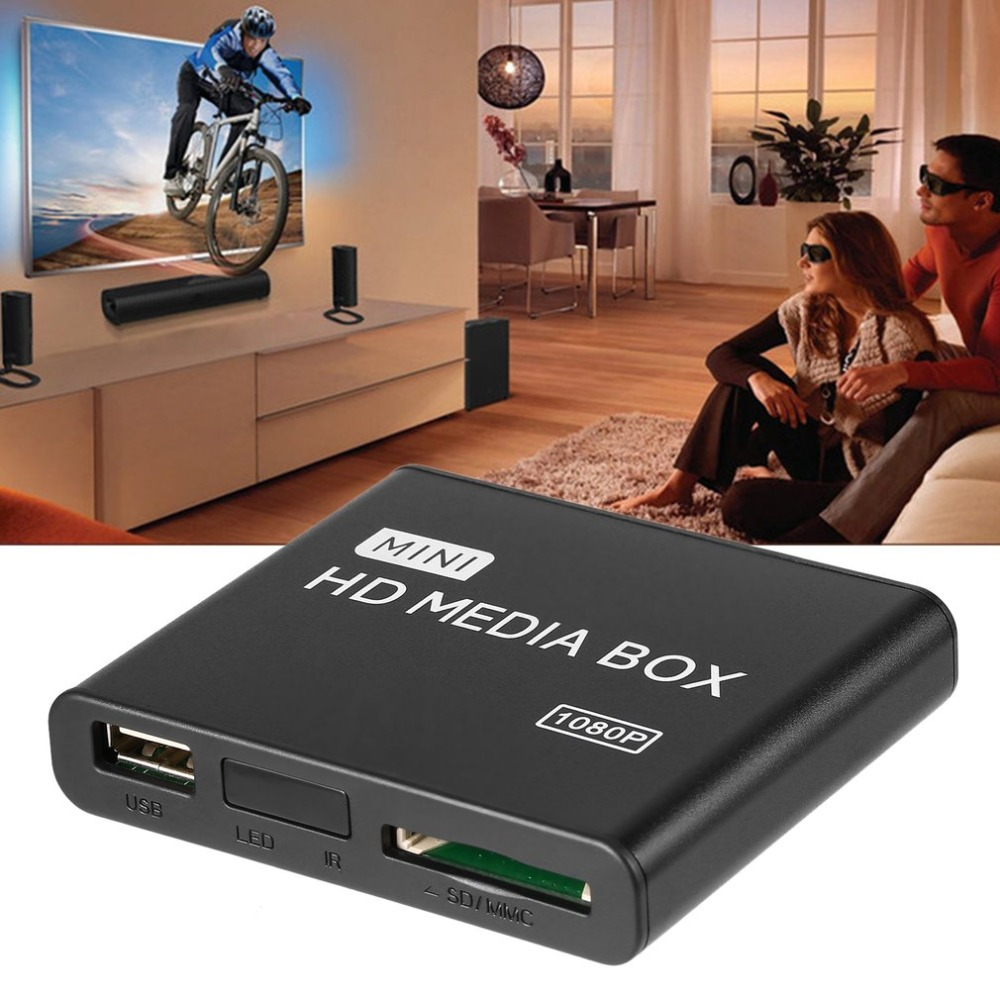 Mini Android Media Player Media Box TV Video Multimedia Player Full HD 1080P AU EU US Plug
