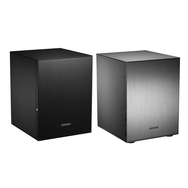 Jonsbo C2 Aluminum Computer Case Desktop PC Chassis for Mini ITX microATX Support 24.5*21.5CM motherboard/ATX power/80MM radiato(China)
