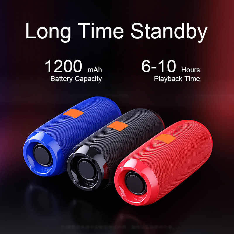 TG117 Portabel Bluetooth Speaker 10 W Nirkabel Bass Kolom Tahan Air Luar Ruangan Speaker Aux Tf Usb Subwoofer Stereo Loudspeaker