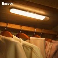 Baseus LED Closet Light PIR Motion Sensor Human Induction Cupboard Wardrobe Lamp Under Cabinet Night Light For Kitchen Bedroom