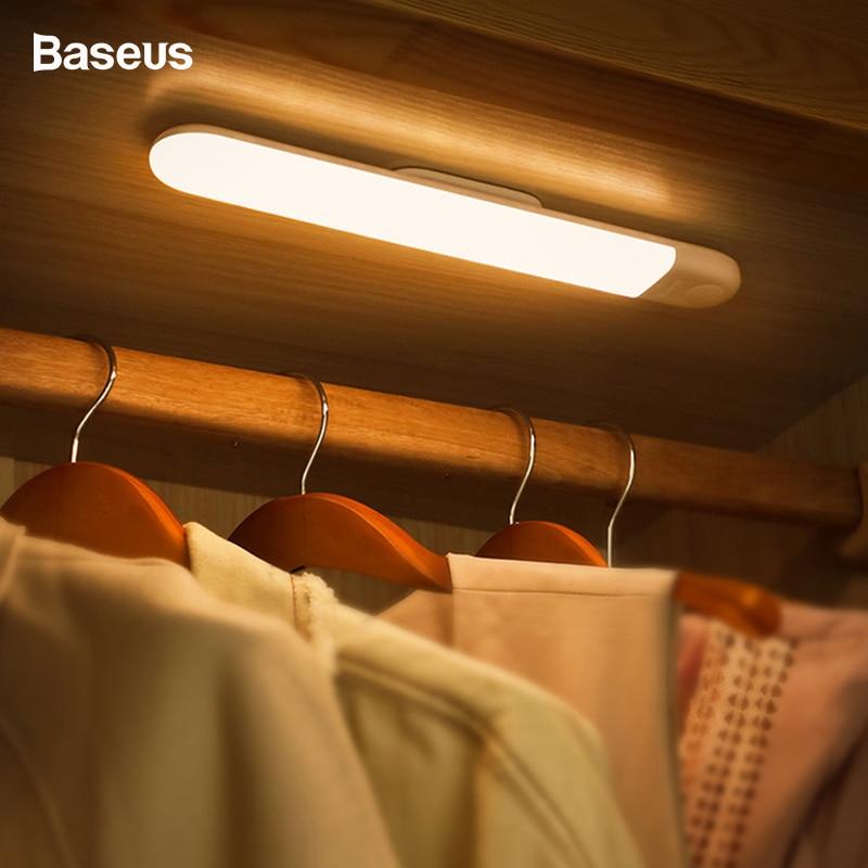 Baseus luz led para armario PIR Sensor de movimiento inducción humana armario Lámpara Bajo armario luz nocturna para cocina dormitorio 36 LED Luz de escenario RGB bola mágica de cristal bombilla DMX Par luz 110-240V discoteca Club fiesta Luz
