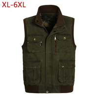Classic Men Vest With Many Pockets For Summer 2018 Male Casual Photographer Work Khaki Multi Pocket Sleeveless Jacket Waistcoat