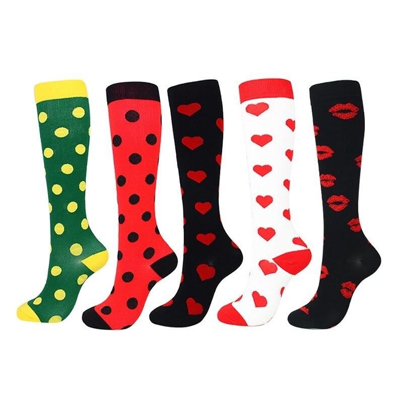 Men Women Compression Socks Happy Tube Socks Support Nylon Unisex Outdoor Long High Tube Accessories New