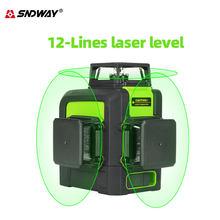 Nível do laser de sndway 12-line linha de projeção do nivelamento do laser verde para o nível vertical e horizontal do laser da decoração da casa