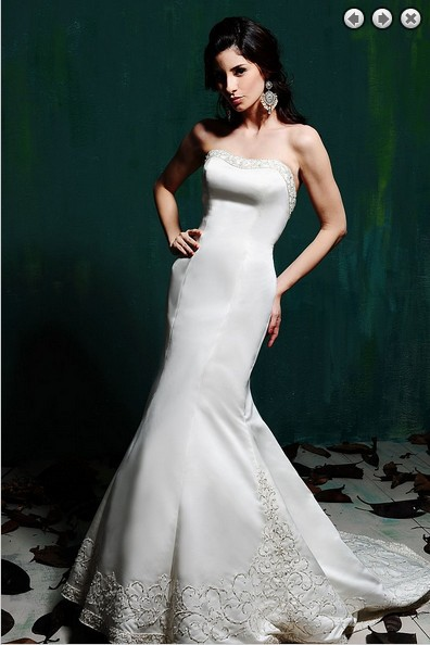 Bridal Gown  2018 New Sexy Fashion Zipper Plus Size Embroidery Sweetheart Beaded Long Mermaid Wedding Mother Of Bride Dresses