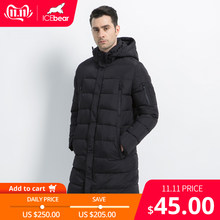 ICEbear 2019 New Clothing Jackets Business Solid Parka Fashion Overcoat Outerwear Long Thick Winter Coat Men 16M298D(China)