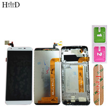 Mobile LCD Display For Oukitel K5 LCD Display + Touch Screen Digitizer Assembly Repair Parts Adhesive LCD Glass Tools