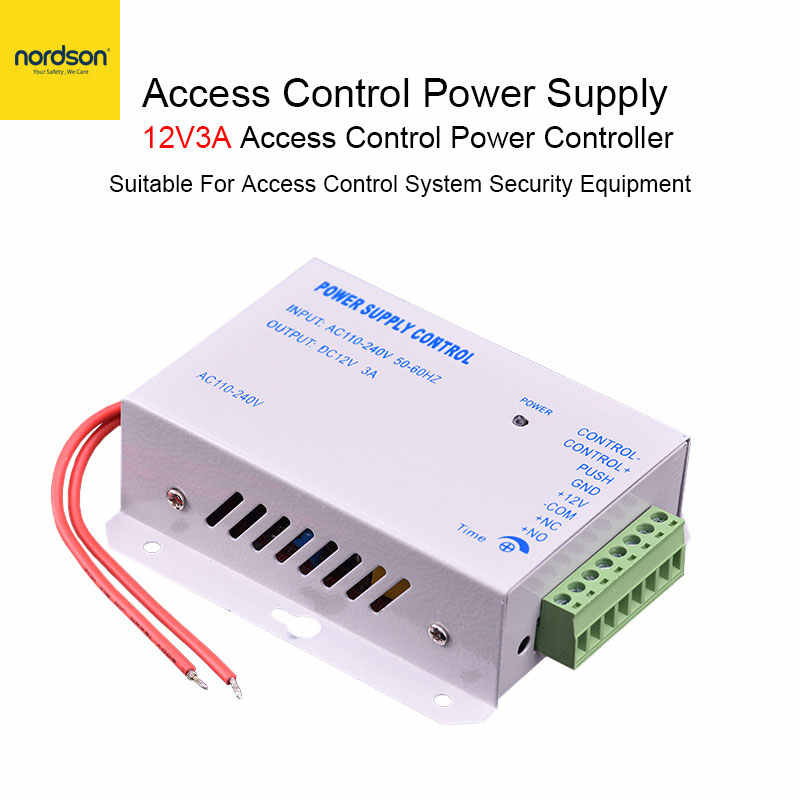 Nordson Original ควบคุมแหล่งจ่ายไฟ DC 12V 3A ประตู RFID ล็อคไฟฟ้า Switching Adapter Covertor ระบบ AC 110 -240V