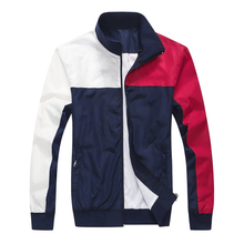 2021 TOMI high-quality men's jacket autumn and winter men's casual jacket homme color matching long-sleeved jacket