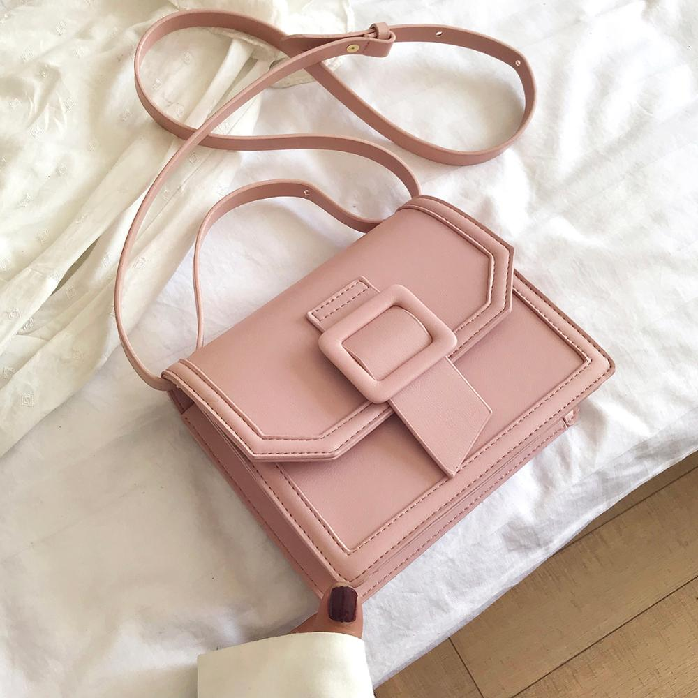 Mini Solid Color Pu Leather Crossbody Bags For Women 2020 Female Travel Totes Lady Cute Travel Handbags And Purses Shoulder Bag