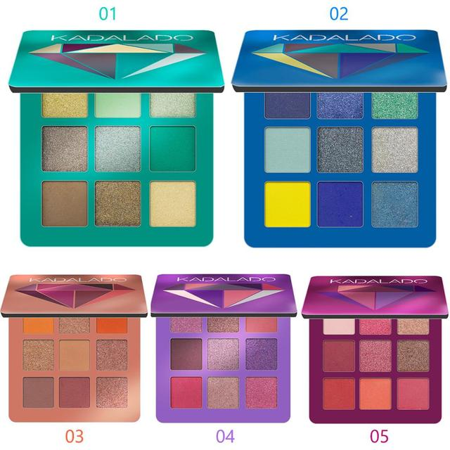 9 Colors Glitter Eyeshadow Makeup Pallete Matte Eye Shadow Palette Shimmer And Shine Diamond Eyeshadow Powder Pigment Cosmetics 1