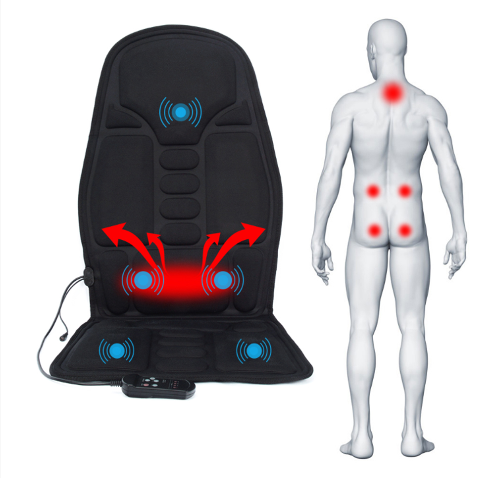 Image 4 - Smart Electric Back Massage Chair Cushion Vibrator Portable Home Car Office Neck Lumbar Waist Pain Relief Seat mat massage padMassage Cushion   -
