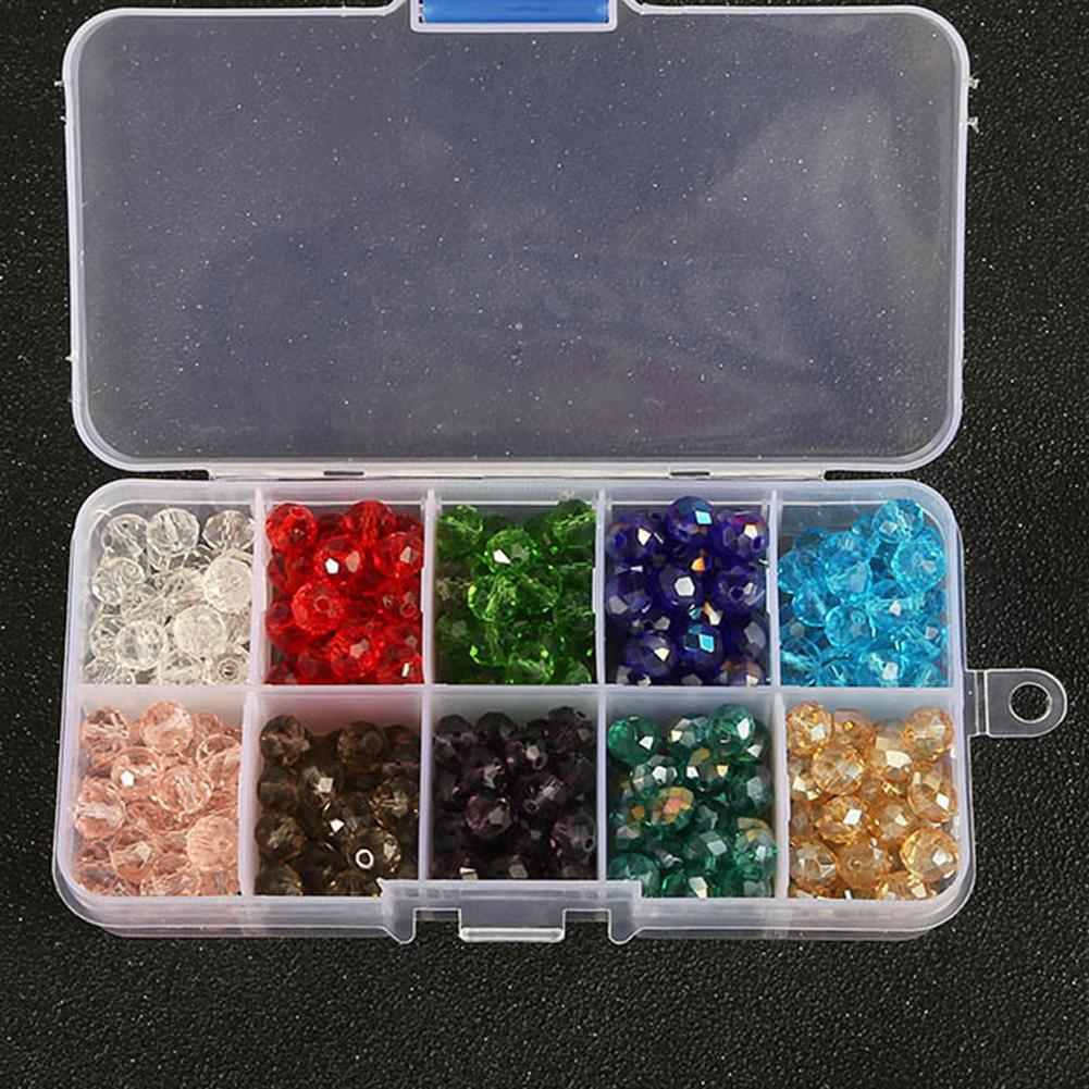 8mm 300Pcs Glass Beads DIY Earring Jewelry Making Accessories with Storage Box Fashion With storag
