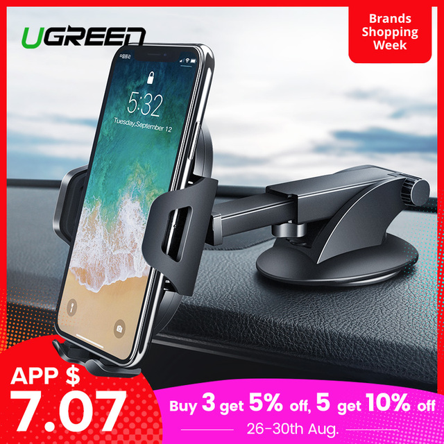 Ugreen Car Phone Holder No Magnetic Gravity Stand in the Car Suction Cup Support Holder for Your Mobile Phone