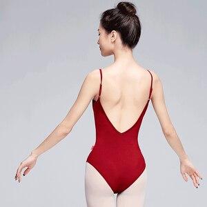 Image 3 - Women Ballet Leotards Girls Ladies Sexy Neckline Soft Gymnastics Leotard Ballet Dancing Costumes