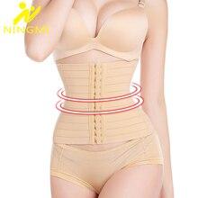 NINGMI Slim Waist Trainer Body Shaper Women Modeling Belt Shapewear Slimming Underwear Strap Corset Cinchers Back Supports