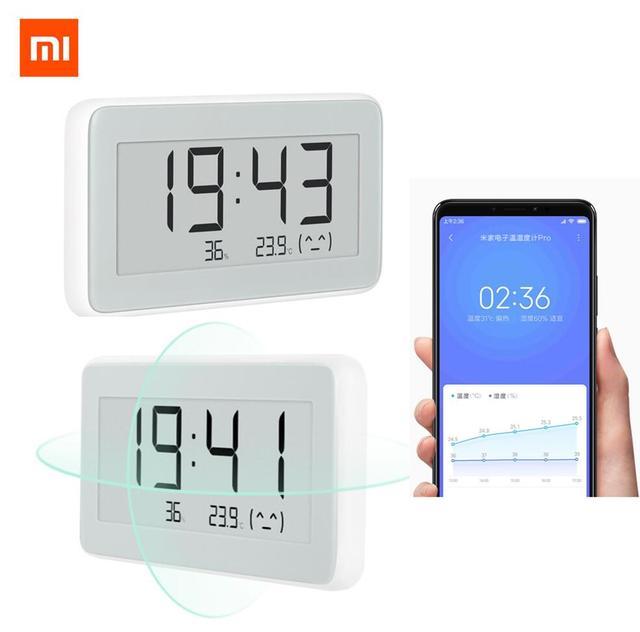 Xiao mi mi jia Bluetooth inteligentny czujnik temperatury Hu mi dity ekran LCD cyfrowy termometr miernik wilgotności mi APP