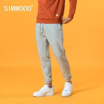 SIMWOOD 2021 Spring new sweatpants causal comfortable jogger trousers plus size back pockets drawstring plus size pants SJ131038 1