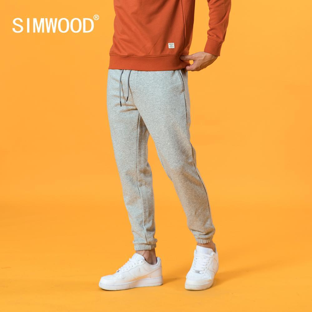 SIMWOOD 2021 Spring new sweatpants causal comfortable jogger trousers plus size back pockets drawstring plus size pants SJ131038