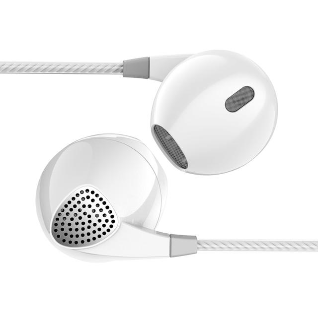 Verhux P10 이어폰 헤드폰 3.5mm Hifi 소음 휴대 전화 용 마이크가있는 스테레오베이스 헤드셋 음악 이어폰