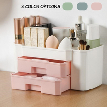 Desktop Organizer Storage Box Makeup Organizer Box Plastic Scissors Jewelry Nail Polish Pen Brushes Container Tool tanie tanio CN(Origin) Storage Drawers SKUE03145 Eco-Friendly
