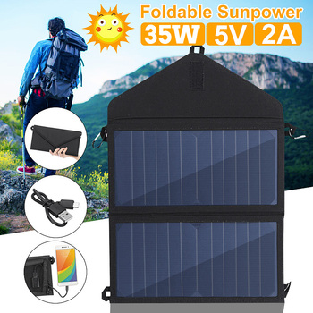 Everything Is Solar™ Folding 35W Solar Panel Outdoor Charger