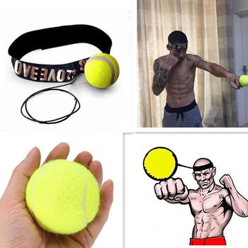 boxing reaction training ball speed ball decompression ball for gym boxing improve speed with reaction training Fight Elastic Ball with Head Band for Reaction Speed Training Boxing Punch Exercise Equipment Accessories