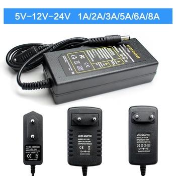 AC Adapter Universal 5V/9V/10V/12/13V/15V,Power Supply Adapter 24V 1A 2A 3A 5A 6A 8A AC 220V to DC 12V 5V 24V for LED Strip Lamp ac dc 9v 15v power supply adapter converter 220v to 15v 9v 1a 2a 3a 4a 5a hoverboard charger ac to dc switching adapter eu us