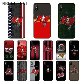 NBDRUICAI Tampa Bay Buccaneer TPU Soft Silicone Phone Case Cover for Xiaomi 8 9 se 5X Redmi 6pro 6A 4X 7 5plus note 5 7 6pro image