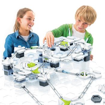 Zabawki dla dzieci winda marmur Run klocki zabawki dla dzieci Technic marmury obwód labirynt Ball Circuit marmur działa utwory DIY tanie i dobre opinie G0008 Sport Z tworzywa sztucznego 8 ~ 13 Lat 5-7 lat 14Y maze with balls marbles circuit marble tracks marble race run