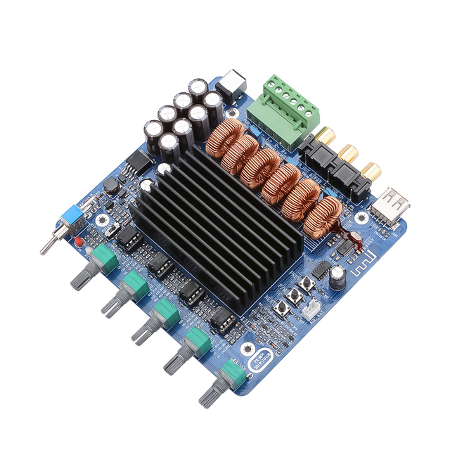 AIYIMA TDA7498E 160W*2+220W 2.1 Channel Power Amplifier Board Amplificador Subwoofer Sound Amplifiers DIY For Home Car Audio