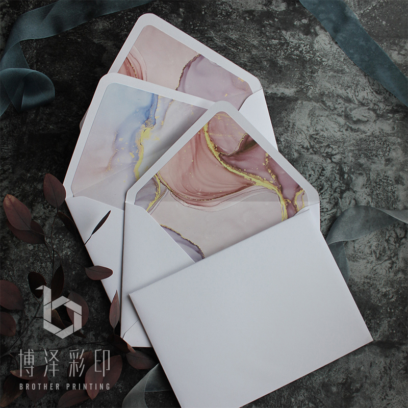 5pcs/pack Western Texture Envelopes Paper Envelopes For Letter Greeting Cards Wedding Party Invitation 140mmX190mm