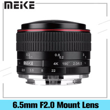 MEIKE MK-6 5mm F2 0 Fisheye Lens EF-M NF-M MFT Mount E-Mount X-Mount Lens Camera For Canon Nikon Sony Fujifilm Panasonic Olympus cheap MEKE 6 Blades Fish-eye Lens people Travel Fixed Focus Lens Manual 70-200mm 61mm f 2 0 301g-400g