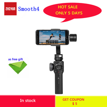 цена на Zhiyun Smooth 4 Q2 3-Axis Handheld Smartphone Gimbal Stabilizer for Samsung S9 S8 iPhone 11 Pro Max XS XR X 8P 8  for  Camera